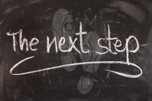 Tafel Der nächste Schritt
