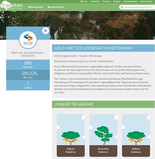 Treedom delfi-net Wald