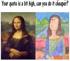 Mona Lisa Zeichnung